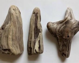 Driftwood Set Of 3 Driftwood Pieces Decorative Driftwood Beach Crafts DIY Driftwood