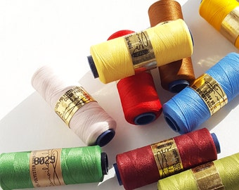 12 spools 100% Polyester Embroidery yarn - Assorted Colors Embroidery Thread - Embroidery Floss - Easy Punch - friendship bracelet thread