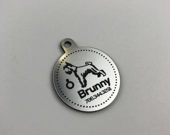 Personalized Pet Tag, Personalized Dog Tag, Custom Dog Tag, Custom Pet Tag, Stripes or Design Your Own Pet Tag, Pet Gift