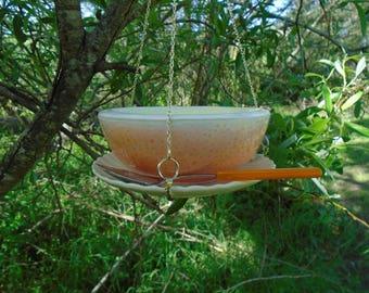 Gorgeous Grapefruit, Hand Crafted, Hanging, Bird Feeder