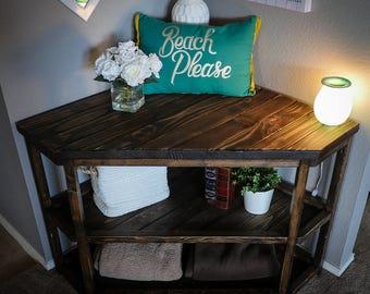 Handmade custom corner table