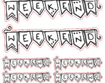 WEEKEND!! // Stickers // Personal Filofax // Planner // Erin Condren