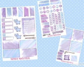Water Pencil Set // Erin Condren // Personal Filofax // Planner // Stickers