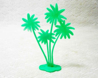 Vintage Green Plastic Toy Palm Trees Bunch