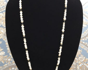 Gorgeous Pearl & Onyx Necklace