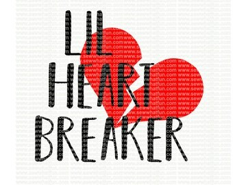Little Heart Breaker SVG, cutting file, little heart breaker, vinyl file, svg, valentines,holiday, svg file cameo file, heart breaker,cricut
