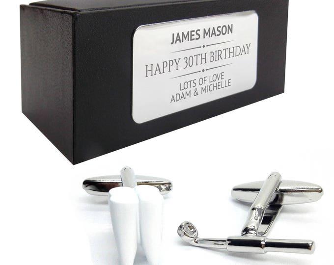 Dentist tooth dental CUFFLINKS 30th, 40th, 50th, 60th, 70th birthday gift, presentation box PERSONALISED ENGRAVED plate - 203