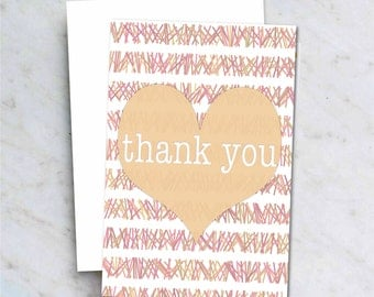 Instant Download Thank You Card