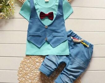 Toddler baby boys summer gentleman clothing
