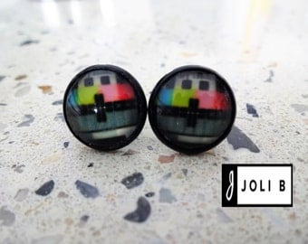 Earrings - Earrings - Studs - glass Cabochons - studs