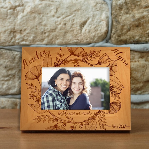 personalized best mom ever photo frame custom engraved frame for mom mothers day gift custom picture frame i love my mom love name 13 from - Engraved Photo Frame
