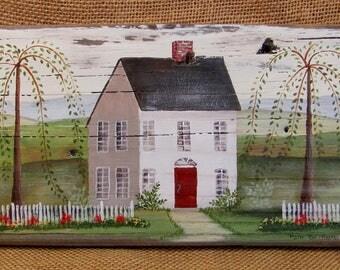 Folk Art House Sign
