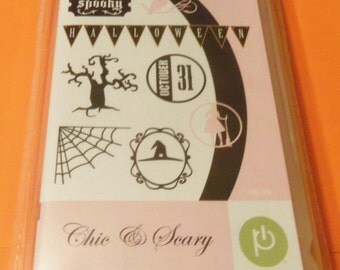 Cricut Teresa Collins Chic & Scary (Halloween) Cartridge w/46 Images New