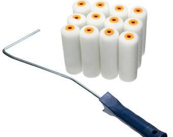 12 Pcs Durable Foam Paint Rollers & Handle