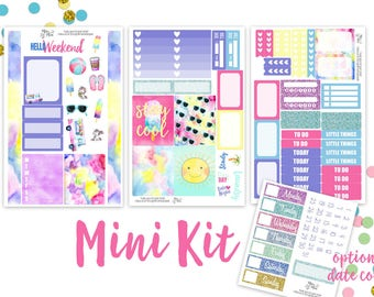 Sweet Summertime- MINI kit  or PERSONAL kit Planner Stickers-  vertical planners