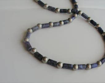 Sodalite and Silver Necklace from GraceStoneDesign