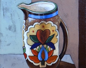 Pitcher Still Life Oil Painting
