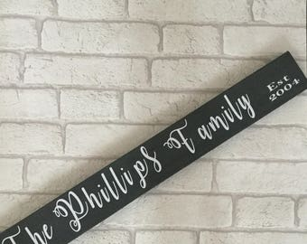 Personalised family name reclaimed pallet wood sign