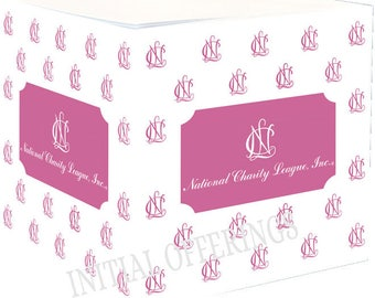 NCL (National Charity League) Pink Sticky Note Cube