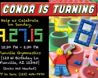 Lego Birthday Party Invite - DIGITAL FILE ONLY