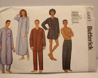 Butterick 6885 Pajama pattern, L & XL