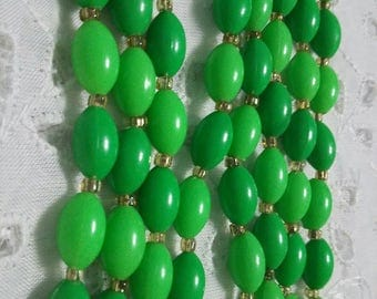Green Long Greens plastic  Beaded Necklace