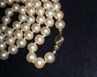 Marvella hand tied string of Pearls