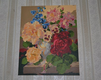 Painting bouquet with roses