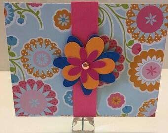 Bright flowers gift card holder