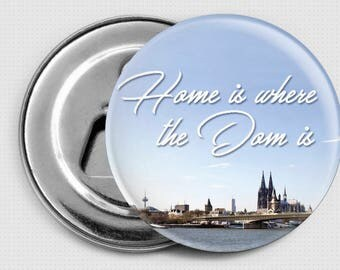 "Magnetic bottle opener ""home is where the Cathedral is"""