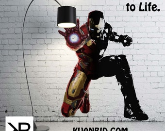 Wall Decals For Kids, Wall Decals, Iron Man, Iron Man Wall Decal, Room Decor, Wall Decals , Iron Wall, Vinyl