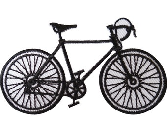 Bicycle Patch Iron / Sew On Clothes Road Racing Bike Cycling Embroidered Badge