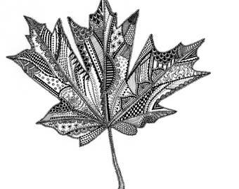 Maple Leaf Digital Download Ink