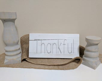 Thankful Sign // Wood Thankful Sign // Rustic Home Decor // House Warming Gift // Wood Sign // Thanksgiving Sign // Thankful // Fall Sign