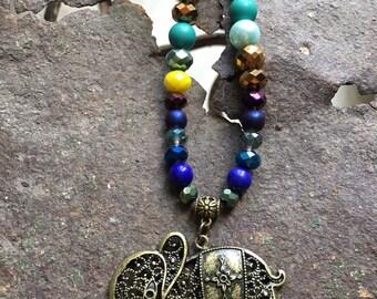 Elephant Mandala necklace.