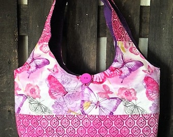 Butterfly Purse pink and purple