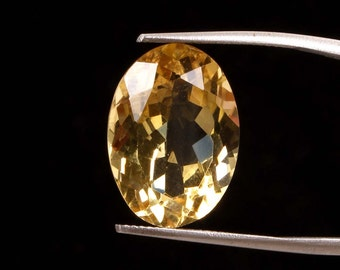 12.60 ct. Natural Beer Quartz faceted oval cut top quality loose gemstones Ki-15282