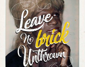 Leave No Brick Unthrown-- Giclee Poster