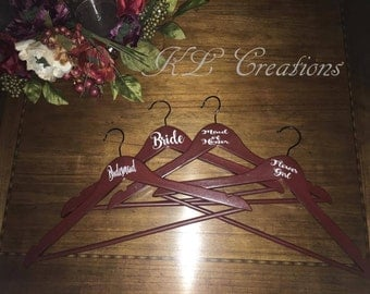 Personalized Wooden Wedding Hangers