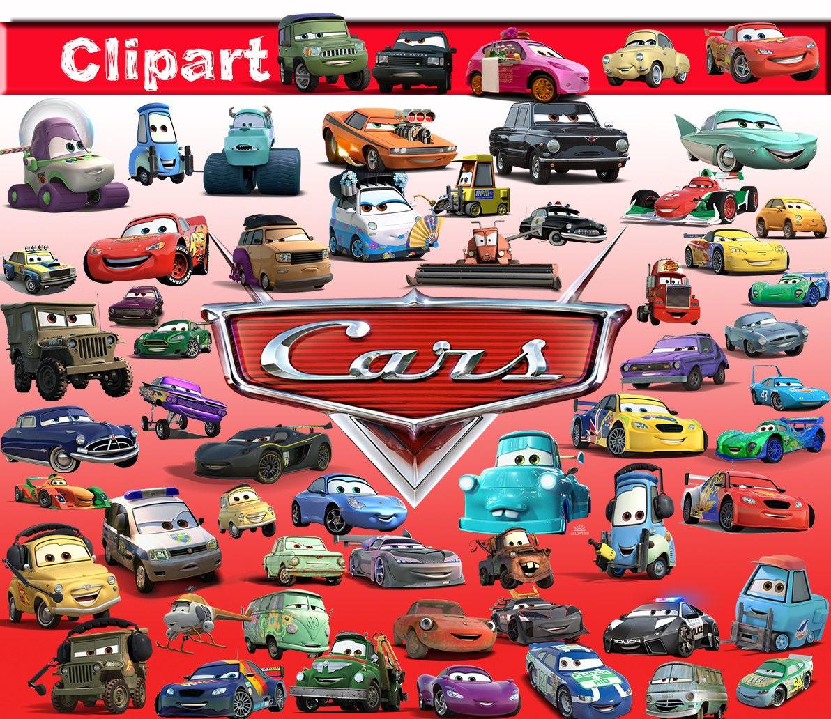 60 Disney Cars ClipArt-Digital Cars Disney Clip Art image-Cars