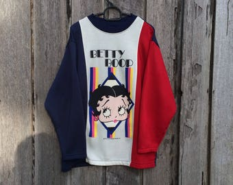 Vintage betty boop multicolor spell out big logo sweatshirt
