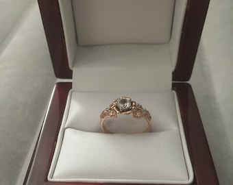 14k diamond Rose Gold Engagment Ring