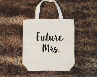 Future Mrs. Tote bag, personalized tote, engagement tote