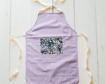 Children's Apron - Lavender Apron - Little Girl Apron - Toddler Girl Apron - Purple Apron