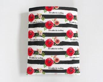 Designer BookBud I'd Rather Be Reading book sleeve - Red