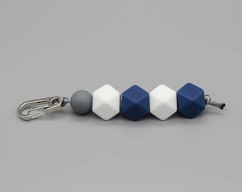 "Bag charms key ring ""pebble"" by Kristin Weiss"