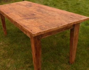 8 Foot Heart Pine Farmhouse Table