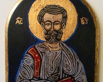 Saint Bartholomew Apostle's icon hand painted