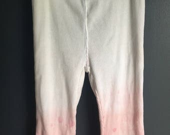 9 month white bleached distressed ombre sweatpants