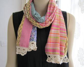 Summer scarf made of cotton.